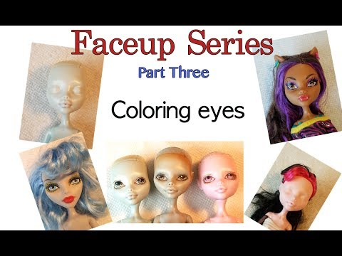 Face up Series - Part Three - Coloring eyes