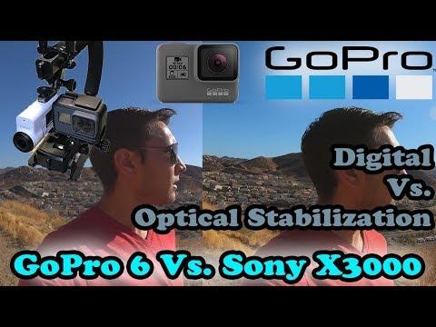 GoPro Hero 6 Stabilization Vs Sony FDR-X3000-Optical Vs. Digital! Surprising Results