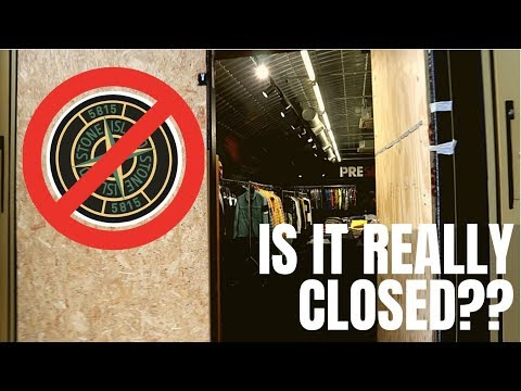 IS THE STONE ISLAND OUTLET REALLY CLOSED???