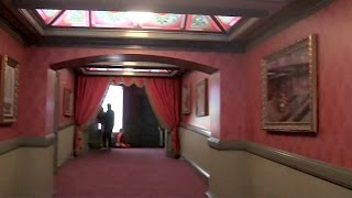 Frozen Arendelle Castle walkthrough at Disneyland in Sing-Along Queue