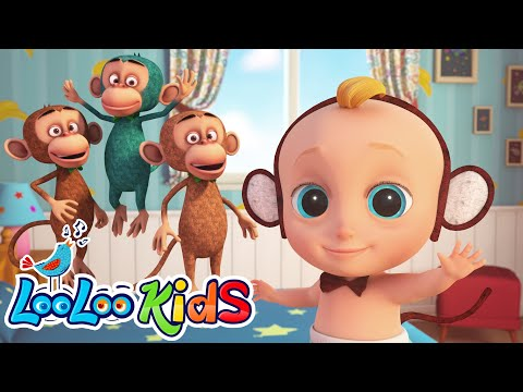 johny-and-five-little-monkeys-|-looloo-kids-nursery-rhymes-and-children`s-songs