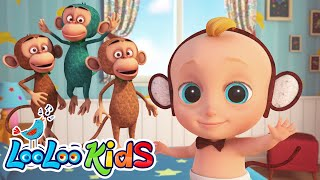Johny and Five Little Monkeys | LooLoo Kids Nursery Rhymes and Children`s Songs