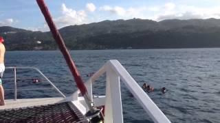 Montego Bay catamaran snorkelling trip