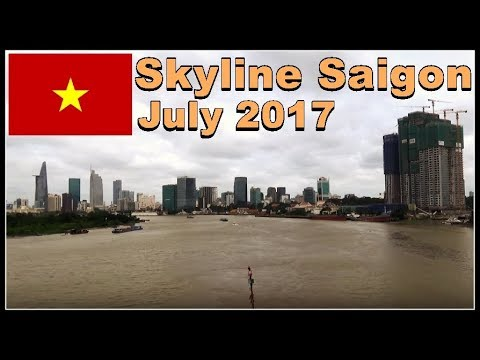 Saigon Skyscrapers / Skyline July 2017 / beautiful Ho Chi Minh City, Vietnam