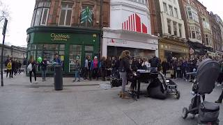 Girl sings Ed Sheeran's Perfect on Dublin street