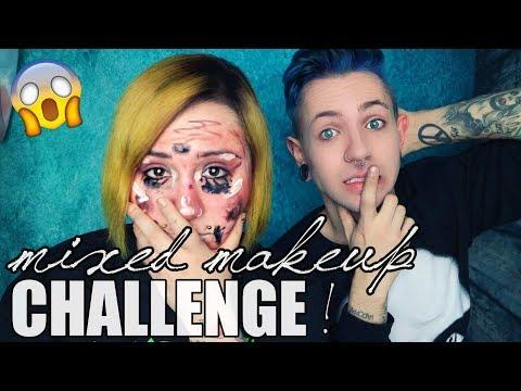MIXED MAKE UP CHALLENGE  mit Verena ❤️   Max Amphetamine