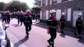 défilé des pompiers  portbail