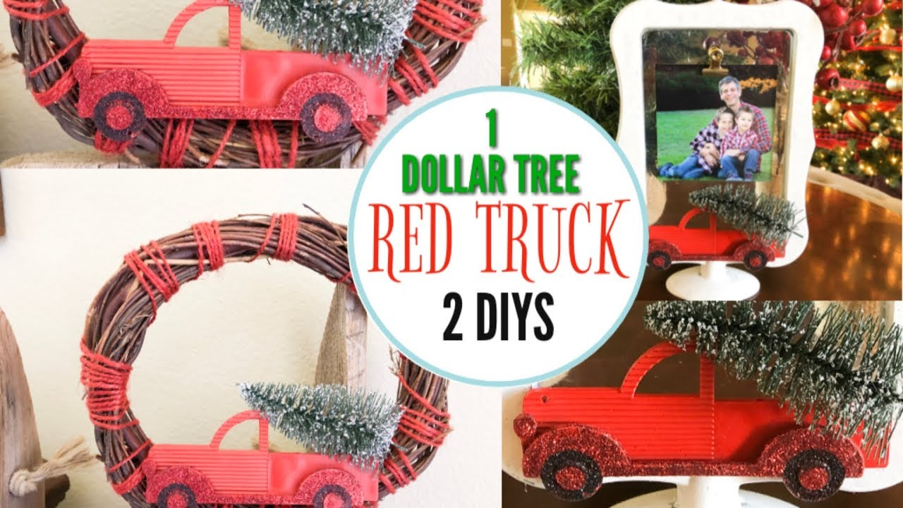 Dollar Tree Christmas Diy Farmhouse Rustic Christmas Decor Red Truck Decor Youtube