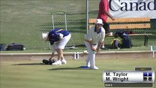 2017 Outdoor Singles - Women's Semi Finals: Wright (BC) vs Taylor (BC)