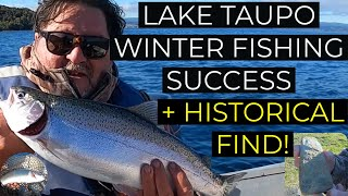 Winter fishing success on Lake Taupo historical find