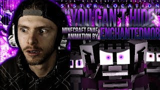 Vapor Reacts 524 FNAF MINECRAFT ANIMATION You Can t Hide Music Video by EnchantedMob REACTION