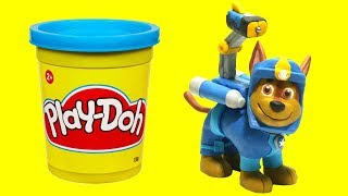Chase Sea Patrol to rescue Stop Motion Play doh video Paw Patrol
