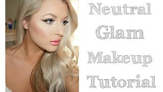 neutral glam makeup tutorial   bh cosmetics wild child palette
