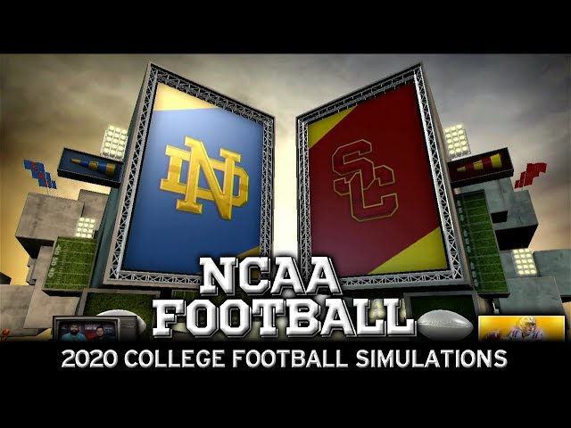 Notre Dame vs USC 2020 NCAA Football Simulation