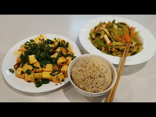 Recipe Club - Celery & Tofu Stir Fry / Vegan Mapo Tofu