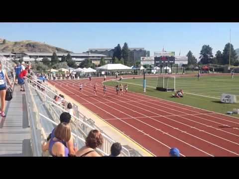 2014 BC Senior 100 meter ft Jasmine 12:63 semifinal