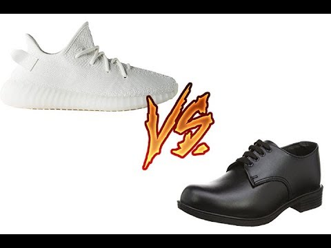 The White Yeezys Vs. School Shoes (To Be Continued Meme)