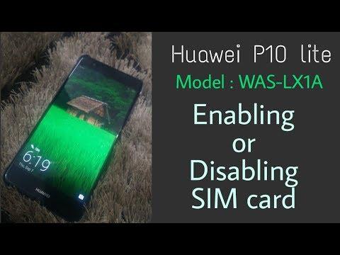 Huawei P10 lite Dual SIM Management