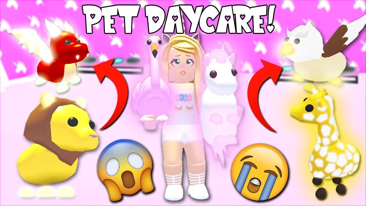 I Started My Own Day Care For Legendary Neon Pets In Adopt Me Roblox Youtube