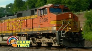 TRAIN TIME - BNSF FREIGHT TRAINS - Choo Choo Bob Show