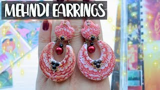 Mehndi Earrings ❤ EASY DIY Jewelry