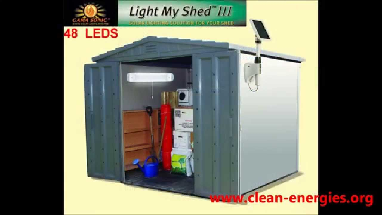 sc 1 st  YouTube & Gama Sonic Solar Shed Light 48 LEDs - Indoor Solar Light - YouTube