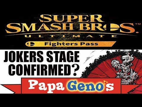 Super Smash Bros Ultimate Fighter Pass - Jokers Stage Confirmed ? - PapaGenos thumbnail