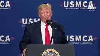 President Trump Delivers Remarks on Supporting the Passage of the US-Mexico-Canada Agreement