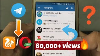 Gambar cover Download Telegram Movie Using UC Browser Or Other External Browser For Free | No Root😮🔥