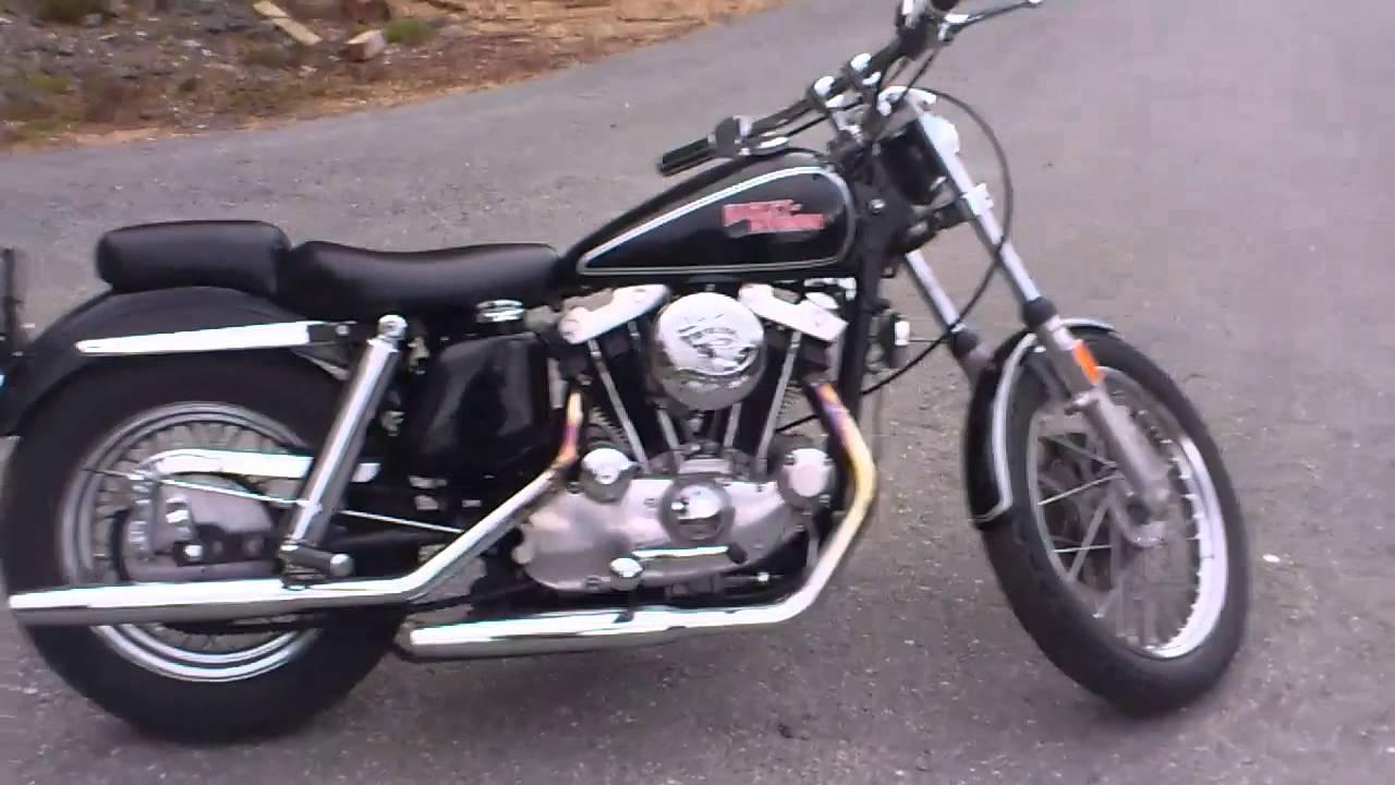 1973 Harley Davidson Sportster 1000 - YouTube