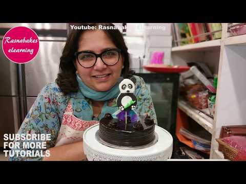 easy-simple-panda-chocolate-birthday-cake-topper-recipe-decoration-classes-video
