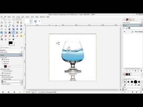 GIMP Add Image thumbnail