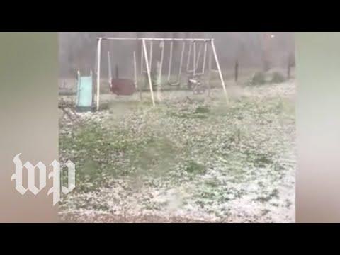 Severe weather hits Alabama, Mississippi