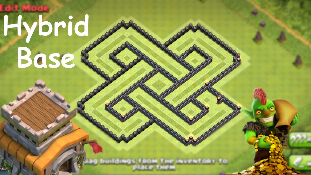 Clash of clans coc best town hall 8 hybrid farming base new th8