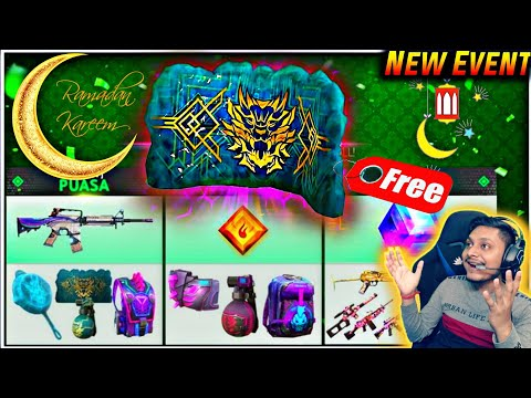 Huge Ramadan Event - Free Gloo Wall Skin And All items With Exclusive First Look - Garena Free Fire - 동영상