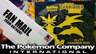 FAN MAIL / THE BEST FORBIDDEN LIGHT ELITE TRAINER BOX FROM THE POKEMON COMPANY!