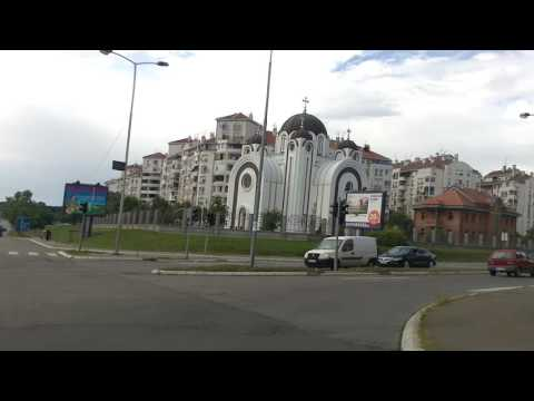 Driving through Belgrade: Cerak - Novi Beograd (Merkator), Saturday afternoon