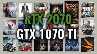 RTX 2070 vs GTX 1070 Ti Benchmarks | Gaming Tests Review & Comparison | 53 tests