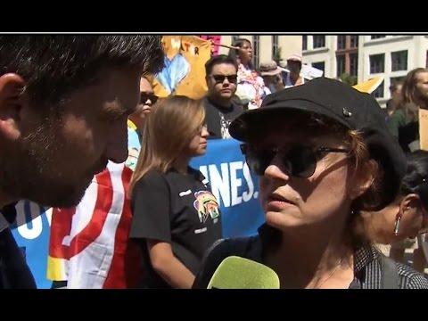 Susan Sarandon & Shailene Woodley rally against Dakota Access Pipeline