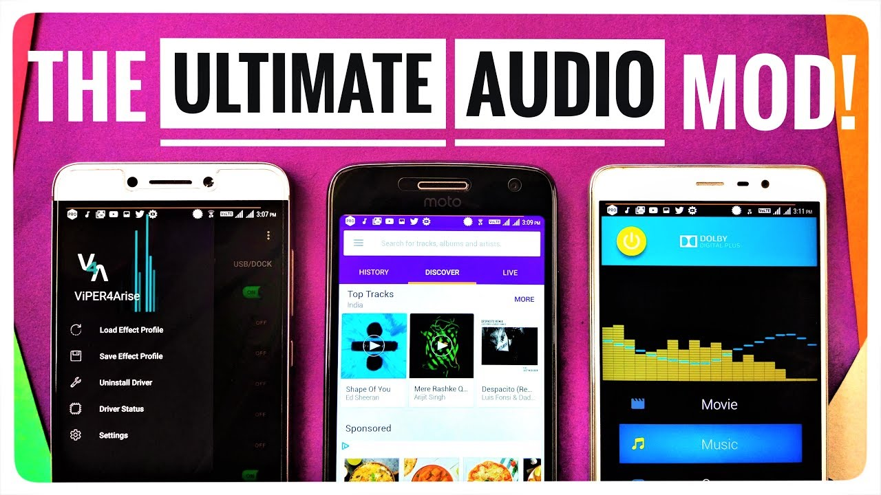 Install THE ULTIMATE AUDIO MOD! feat  Viper4Arise, Dolby & Sony Music  Suite! by Jayaditya Modak _Freaks&Geeks_