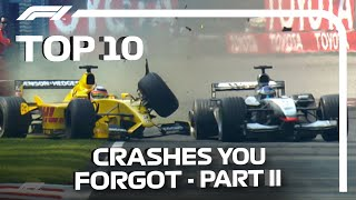 Top 10 F1 Crashes You Forgot | Part Two