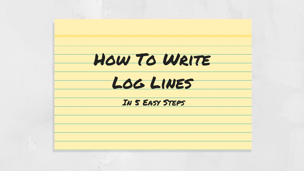 how to write viewing log