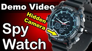 Video 1080p HD Spy Watch - with Night Vision and Motion Detect - BEST DEMO! download MP3, 3GP, MP4, WEBM, AVI, FLV Juli 2018