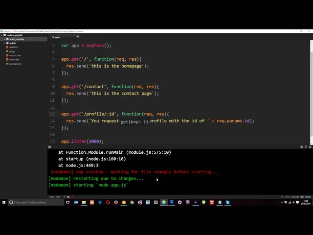 Node JS Tutorial for Beginners #24 - Express Route Params