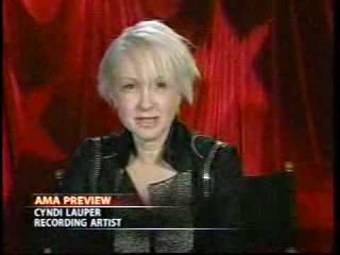 Cyndi Lauper American Music Awards (2005) Interview