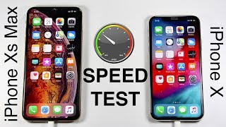 iPhone Xs vs iPhone X SPEED TEST!