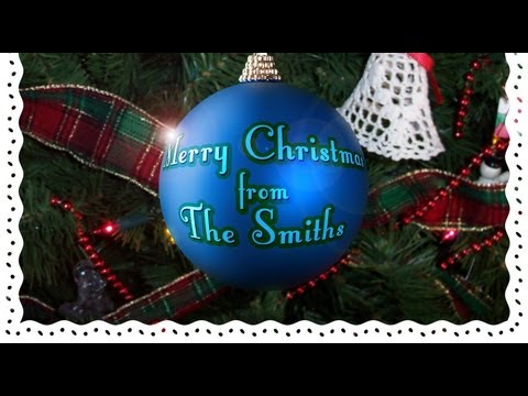 Photoshop: How To Make A Custom, Christmas Card With Your Own Greeting On A Christmas Ball Ornament.