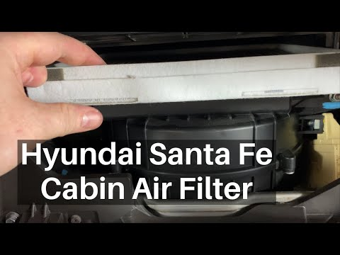 How To Change 2019 – 2020 Hyundai Santa Fe Cabin Air filter – Replace Remove Replacement Location