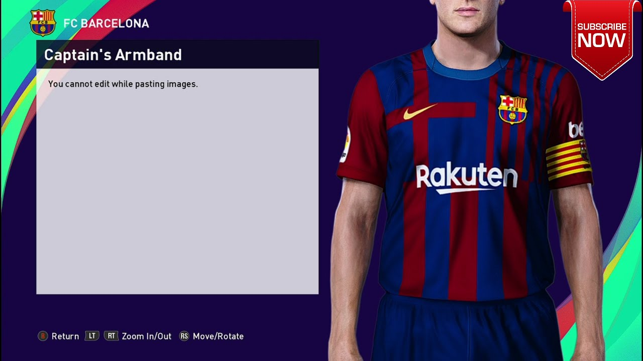How To Import Barcelona And Real Madrid 21 22 Kit In Pes 2021 Pc Youtube
