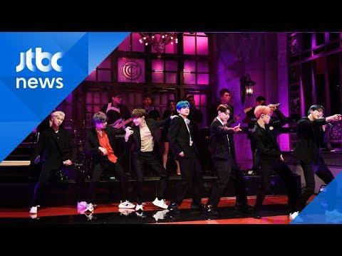 엠마 스톤 소개에 열광…BTS, 미 SNL 컴백 무대 현장
